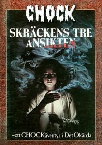 Omslag till äventyret Skräckens tre ansikten.